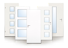 glatte wei e t ren zum niedrigpreis deinet. Black Bedroom Furniture Sets. Home Design Ideas