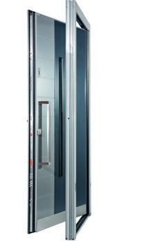 Bayerwald Haustüren 91040 glatt aluminium haustür mit glasausschnitt bayerwald