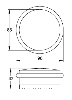 flacher boden t rstopper aus edelstahl s dmetall deinet. Black Bedroom Furniture Sets. Home Design Ideas