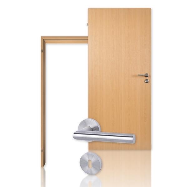 Bauelement Innentür-Set Buche CPL Tür mit Zarge und Drücker