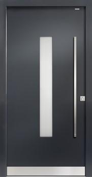 91020 glatt aluminium haust r mit glasausschnitt bayerwald deinet. Black Bedroom Furniture Sets. Home Design Ideas