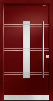 93021 lisenen aluminium haust r mit glasausschnitt bayerwald deinet. Black Bedroom Furniture Sets. Home Design Ideas