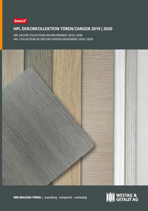 HPL Dekorkollektion Katalog Westag&Getalit