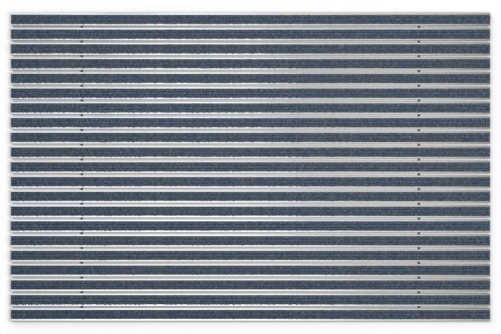 Top-Ansicht von Aluprofilmatte KLASSIK Rips T06PP blau/grau - Entrada