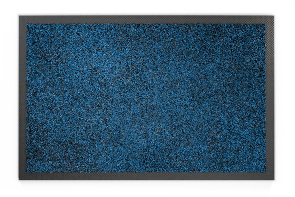 Top-Ansicht von Schmutzfangmatte KLASSIK Nylonfaser 711 blau meliert - Entrada