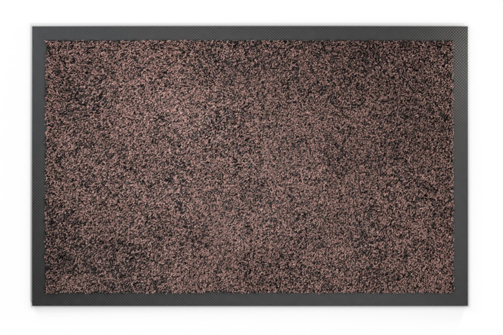 Top-Ansicht von Schmutzfangmatte KLASSIK Nylonfaser 000 braun meliert - Entrada