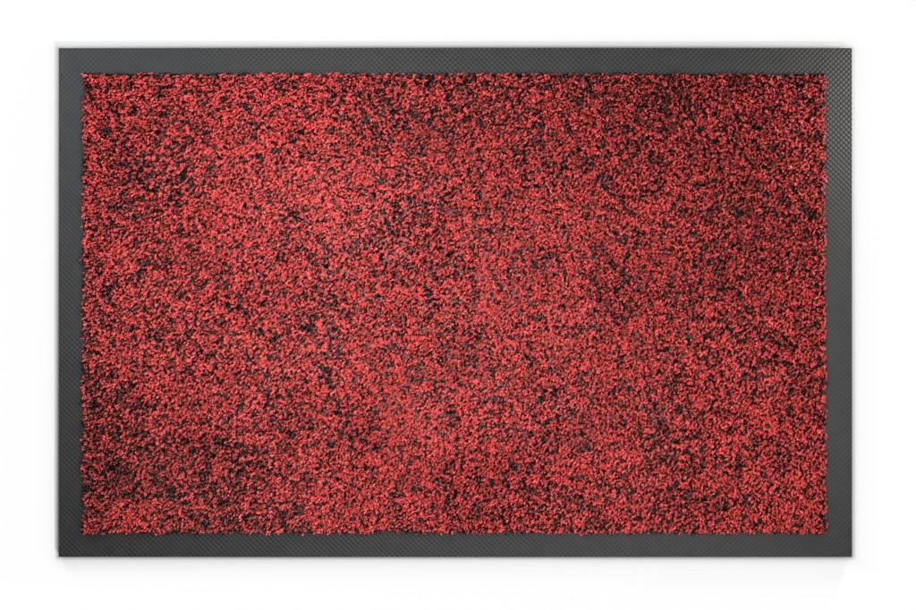 Top-Ansicht von Schmutzfangmatte KLASSIK Nylonfaser 652 rot meliert - Entrada