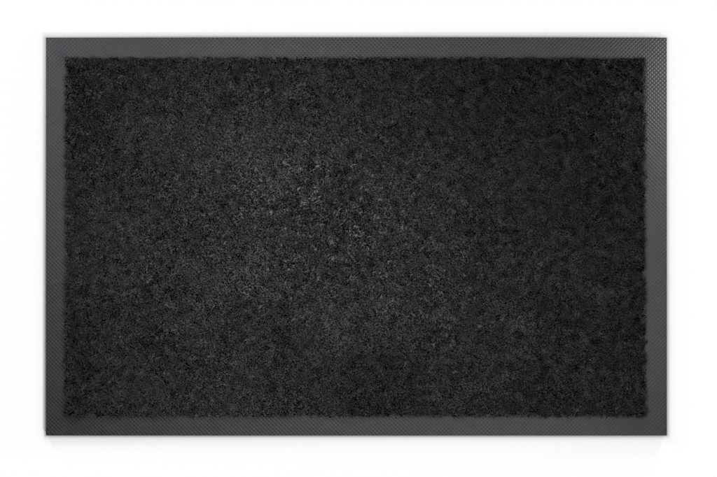 Top-Ansicht von Schmutzfangmatte KLASSIK Nylonfaser 648 schwarz meliert - Entrada