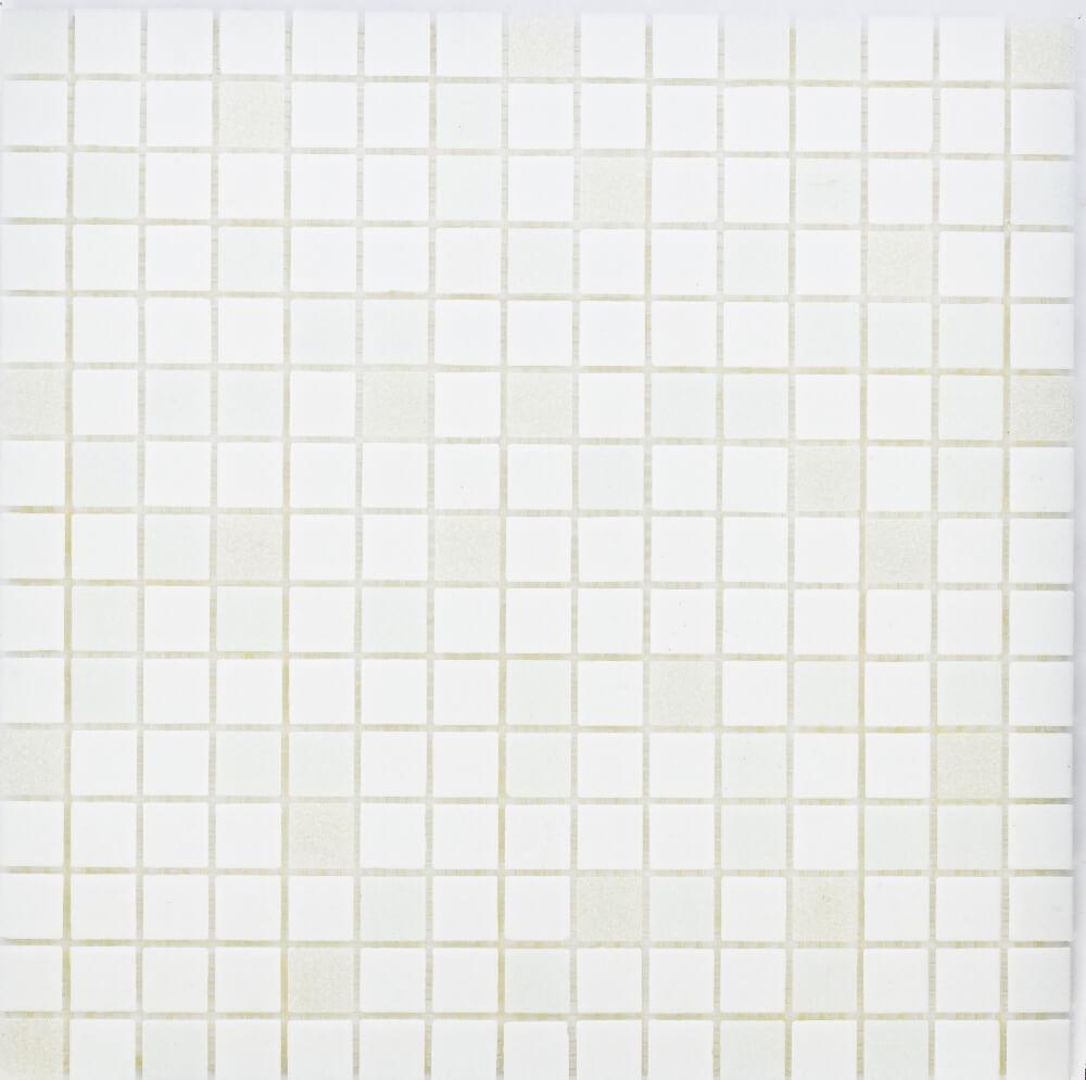 Glasmosaikfliesen White Mix Matt für die Wand 32,6 x 32,6 cm - Interio