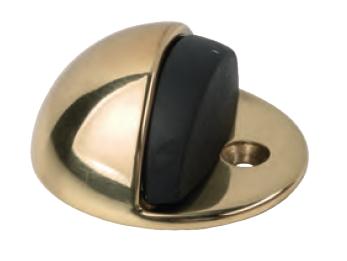 Boden-Türstopper Messing-poliert mit Bodenbefestigung - Südmetall
