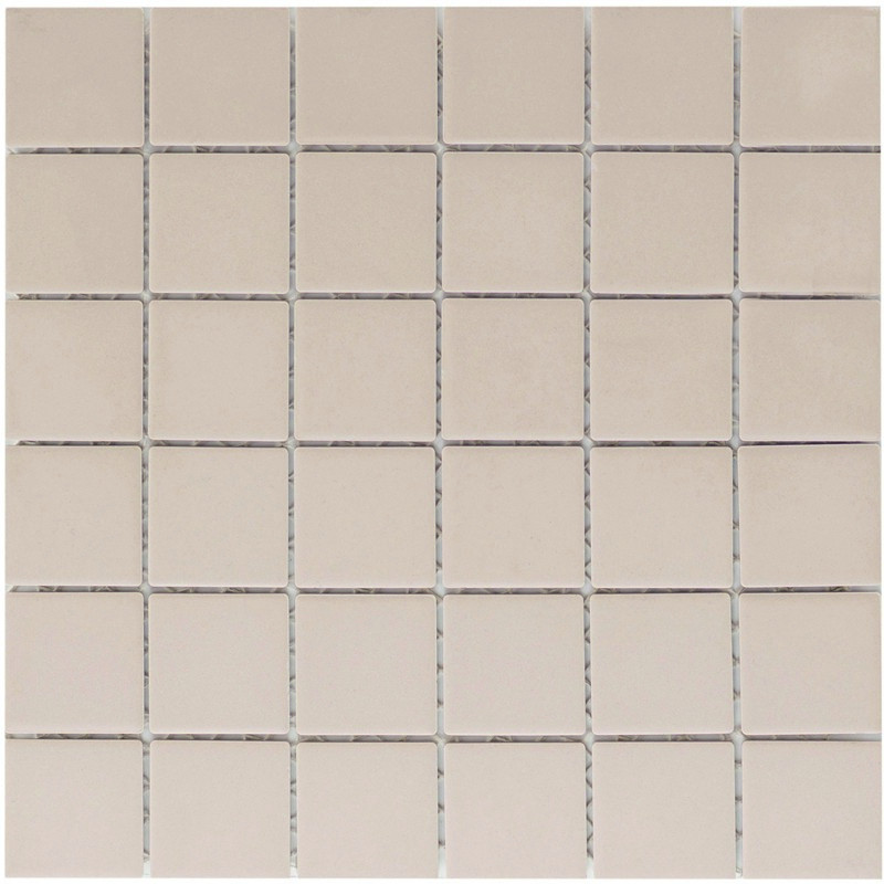 Keramikmosaikfliesen Weiß Matt Antislip für den Boden 30,6 x 30,6 cm - Interio