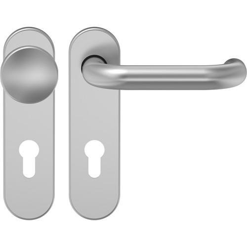 D110 Schutzgarnitur Knopf-Drücker Aluminium F1 mit Kurzschild - ECO