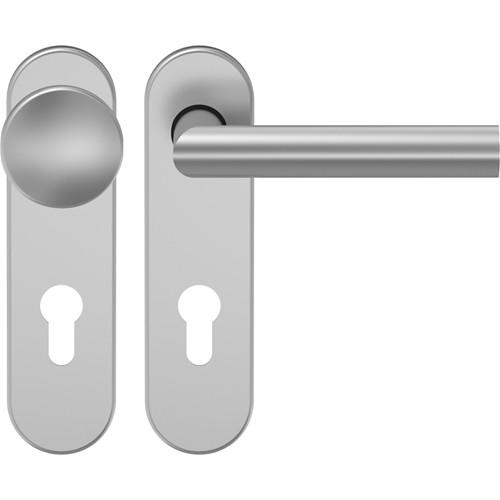 D310 Schutzgarnitur Knopf-Drücker Aluminium F1 mit Kurzschild - ECO