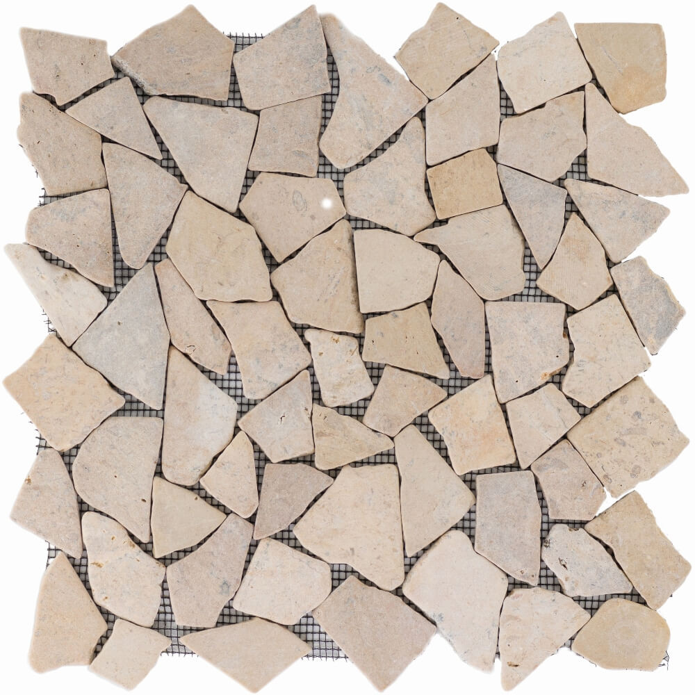Natursteinmosaikfliesen Poly Tan Matt 30,5 x 30,5 cm - Interio