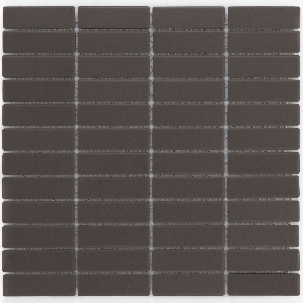 Keramikmosaikfliesen Dark Grey Matt für Boden und Wand 28,6 x 29,5 cm - Interio