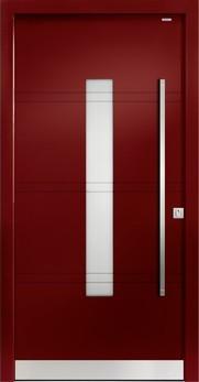 92021 Fugen Aluminium Haustür mit Glasausschnitt - Bayerwald