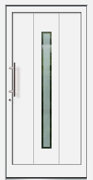 Haustür Weiß weiße basic aluminium haustür darß 2 glas berlin brand deinetür de