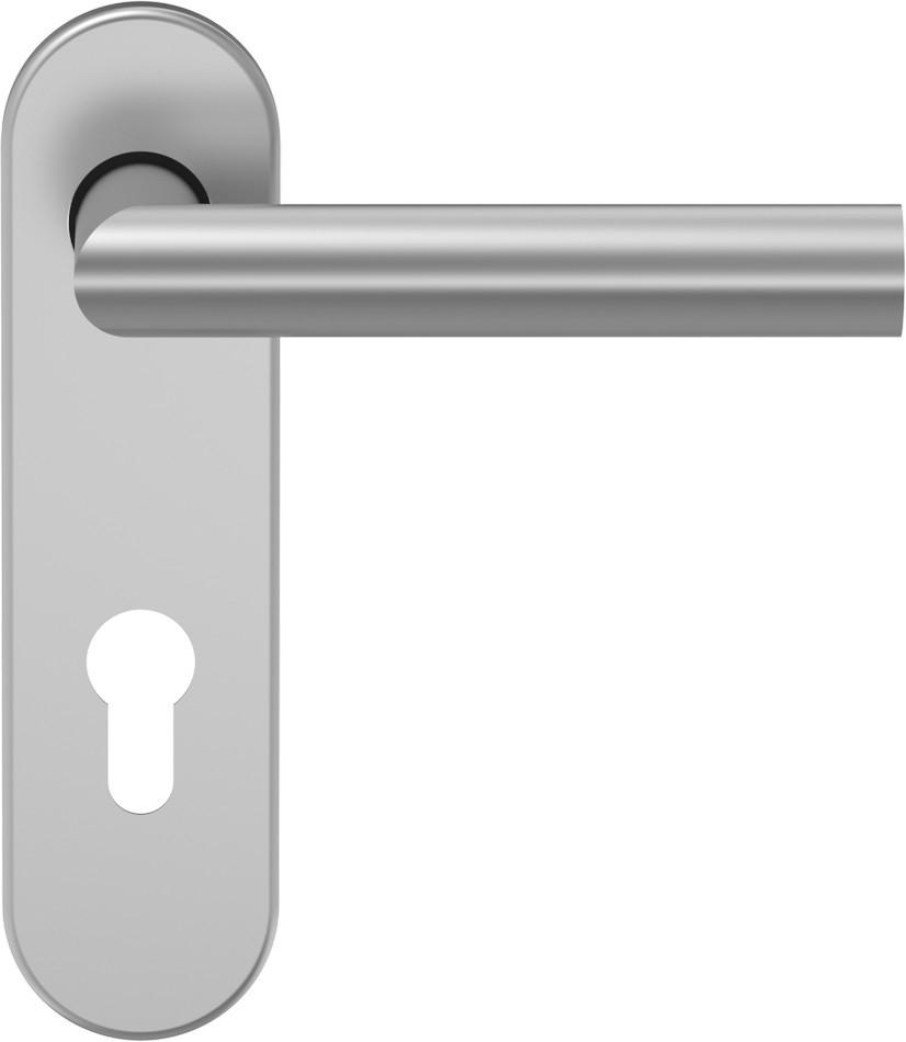 D310 Türdrücker Aluminium F1 mit Kurzschild - ECO