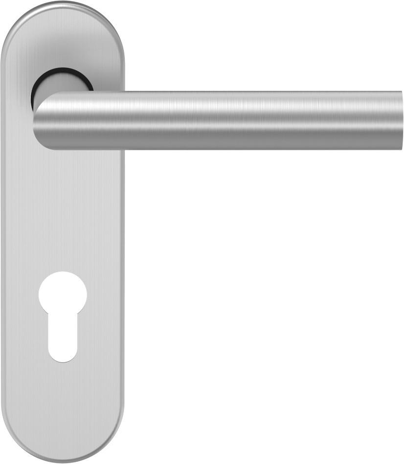 D310 Türdrücker Edelstahl matt mit Kurzschild - ECO