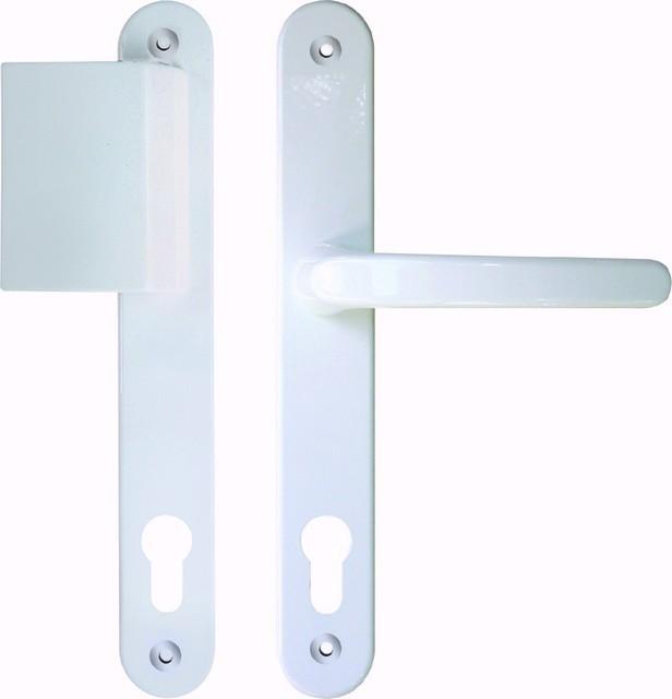Contour 92 weiß Langschild Schutzbeschlag für Haustüren - Interio