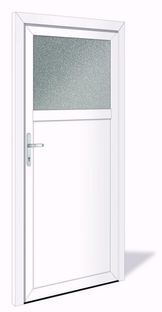 NET 1023 Kunststoff Nebeneingangstür mit Glasausschnitt - Interio