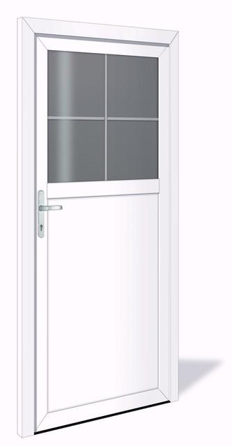 NET 1024 Kunststoff Nebeneingangstür mit Glasausschnitt - Interio