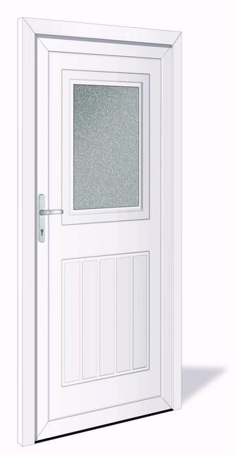 NET 1030 Kunststoff Nebeneingangstür mit Glasausschnitt - Interio