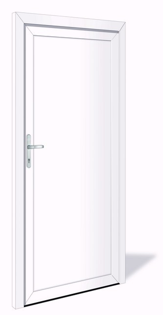 NET 1031 Kunststoff Nebeneingangstür ohne Glasausschnitt - Interio
