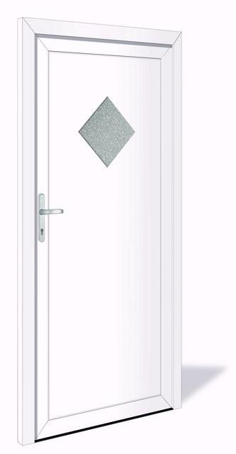 NET 1034 Kunststoff Nebeneingangstür mit Glasausschnitt - Interio