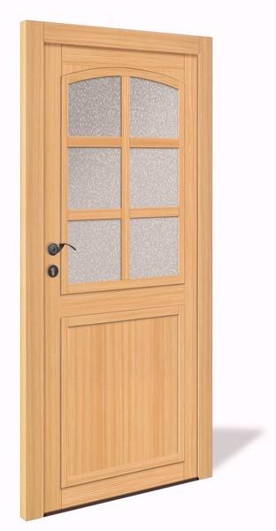 NET 1062 Holz Nebeneingangstür mit Glasausschnitt - Interio