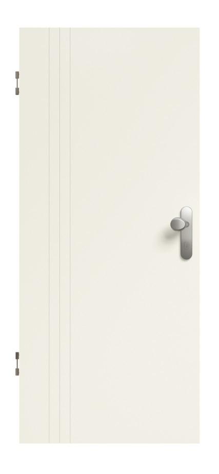 Linea 02 Weißlack Premium Wohnungseingangstür