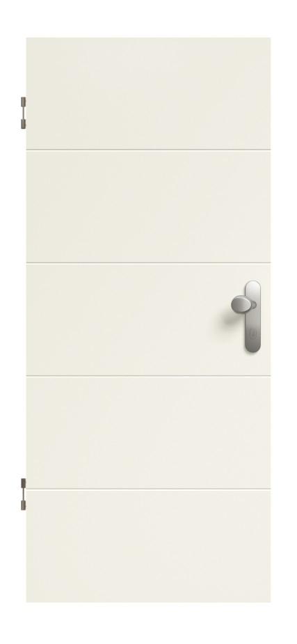 Linea 03 Weißlack Premium Wohnungseingangstür