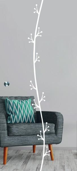 Elida Mattierung Schiebetür Ganzglas mit Motiv matt - Erkelenz