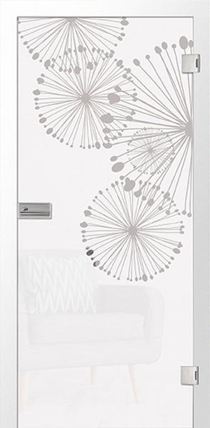 Grano Mattierung Glastür mit Motiv klar - Erkelenz