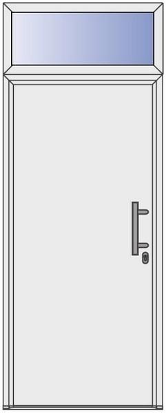 6-Sterne Oberlicht für Aluminium-Haustüren - Interio