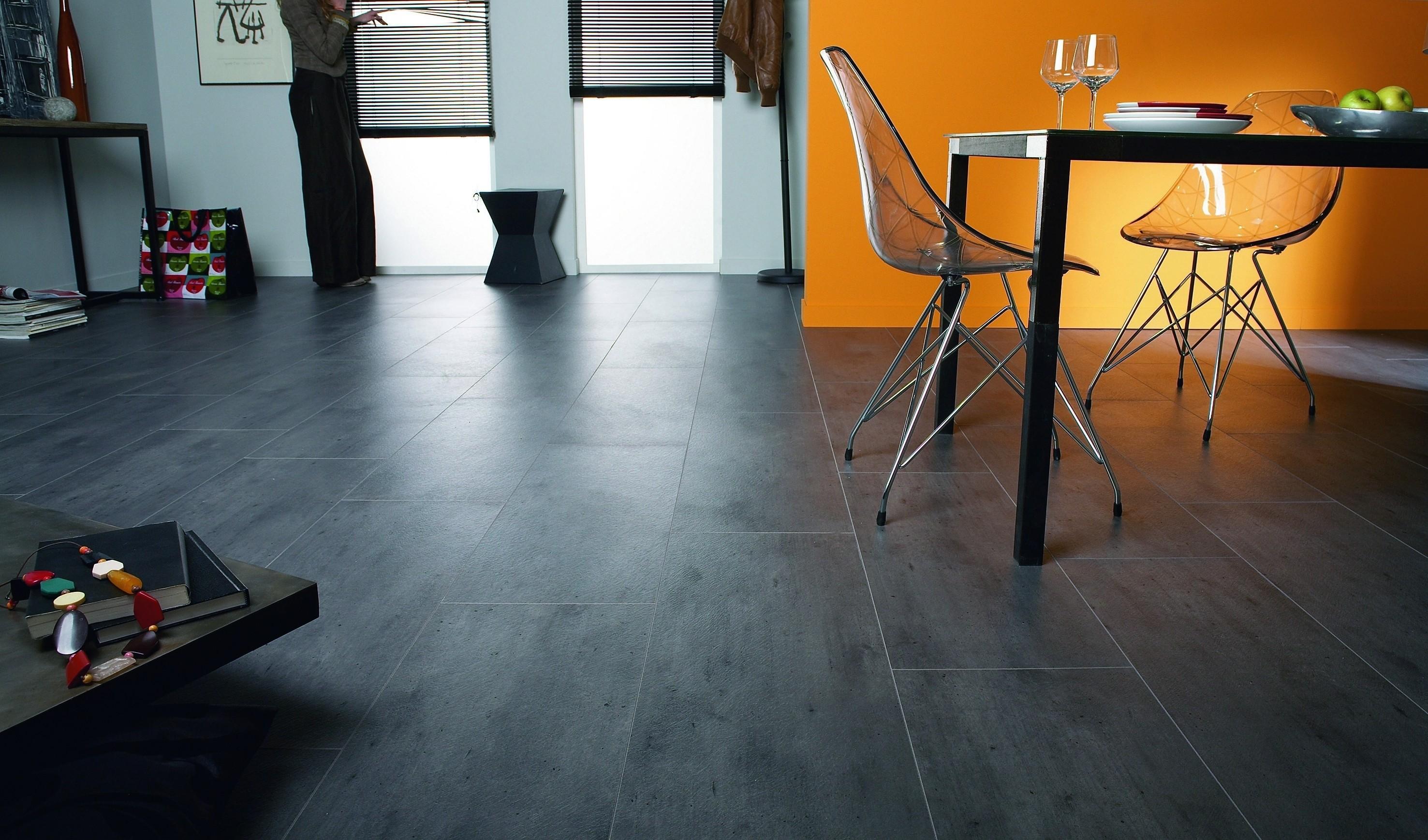Beton Fußboden Auf Fliesen ~ Beton dunkel stab laminat loft fliese tarkett deinetür