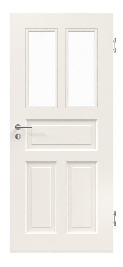 Relativ Weiß Seidenmatt (RAL 9010) Innentür Stilisten C.012 mit Glas SM11
