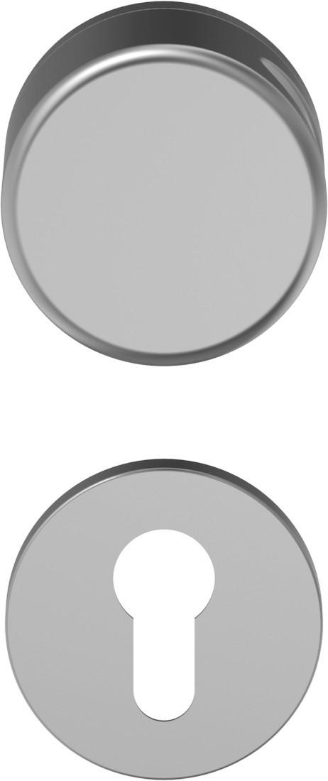 D110 Schutzgarnitur Knopf-Drücker Aluminium F1 mit Rundrosette - ECO