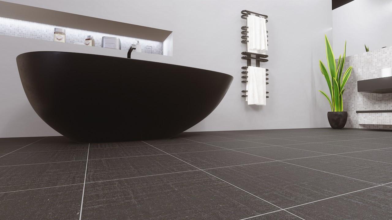 Bodenfliesen Graphite Matt Dalia 33,3 x 33,3 cm Feinsteinzeug - Ceramika Konskie