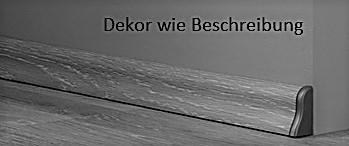 Waveless Eiche White Fußleiste Profil 4 (2400 x 22 x 40 mm) D2873 - Interio