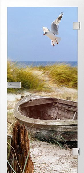 Küste Fotoprint Glastür - Erkelenz