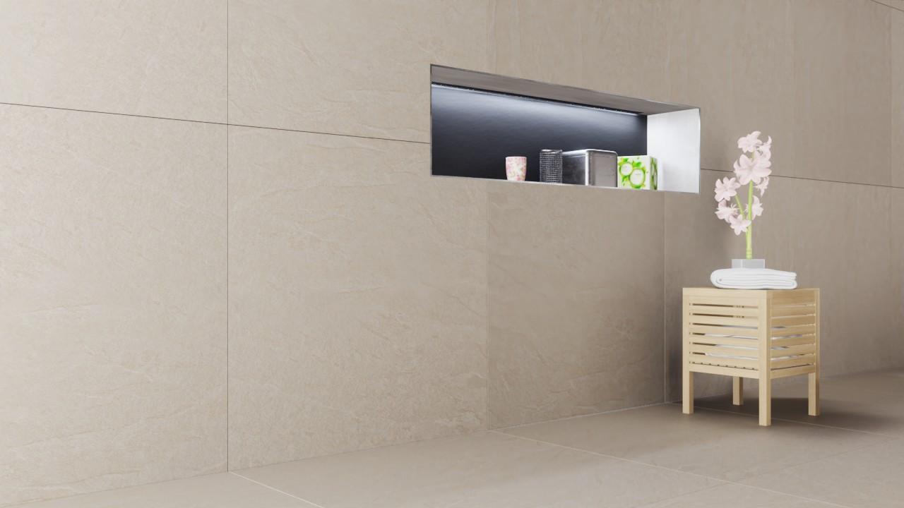 Boden- und Wandfliesen Ivory Flow Matt Waterfall 100 x 100 cm Laminiertes Feinsteinzeug - Lea Ceramiche
