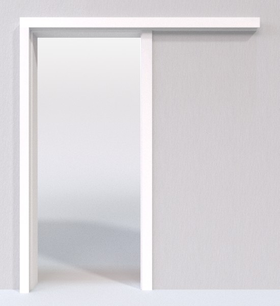 Schiebetür In Der Wand weiß 9016 lebolit schiebetür-system vor der wand laufend - lebo