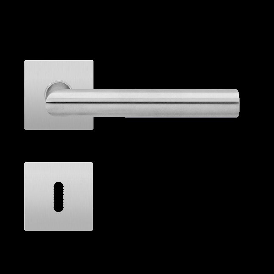 T Form Magneto Edelstahl matt eckige Flachrosetten Garnitur mit BB-Lochung - ProGriff