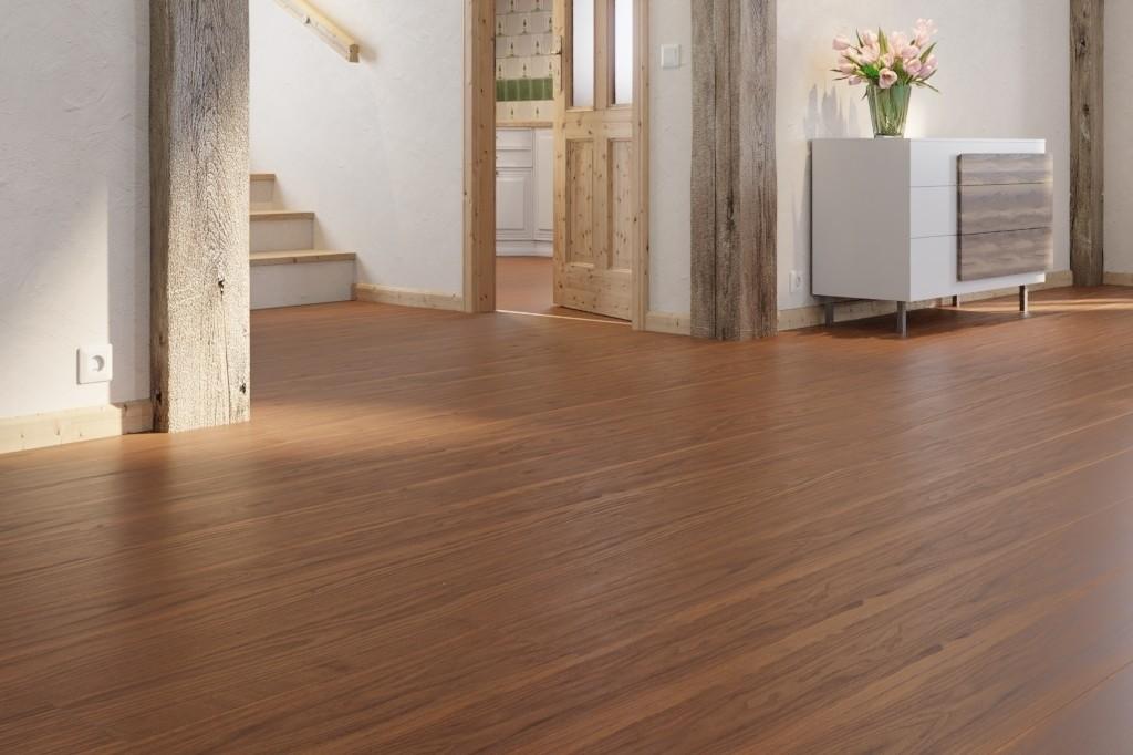 nussbaum amerikanisch lebhaft 1 stab landhausdielen longlife parkett boden premium cottage pd. Black Bedroom Furniture Sets. Home Design Ideas