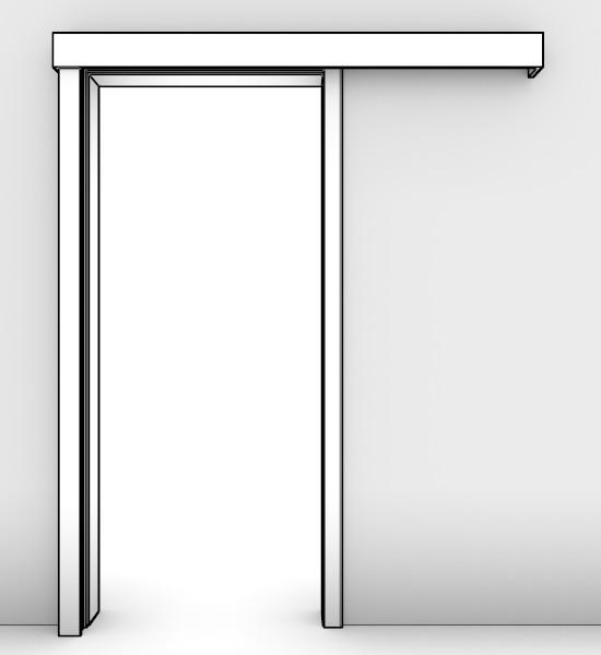 massivholz schiebet r system vor der wand laufend mit glatter zarge deinet. Black Bedroom Furniture Sets. Home Design Ideas