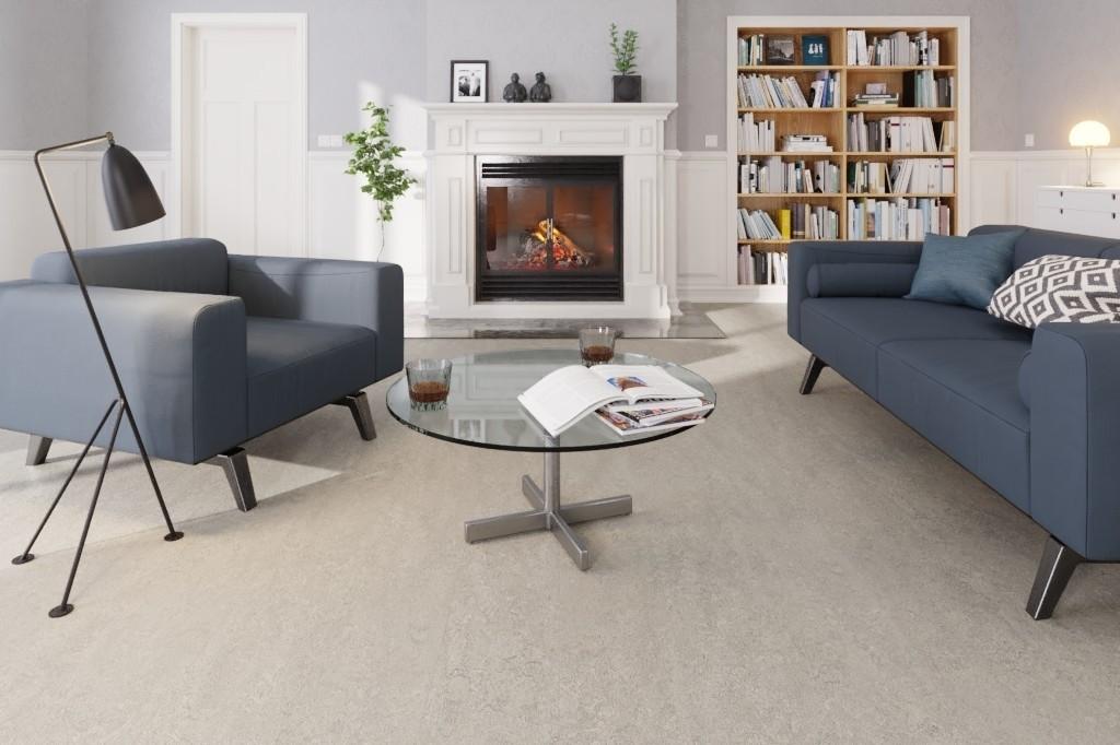 Fußboden Trittschalldämmung ~ Quarzgrau linoleum boden premium inkl. trittschalldämmung puro lid