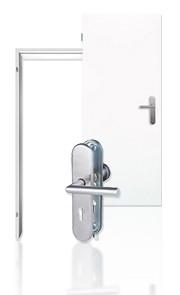 Wohnungseingangstür-Set Weisslack 9010 mit Zarge und Beschlag