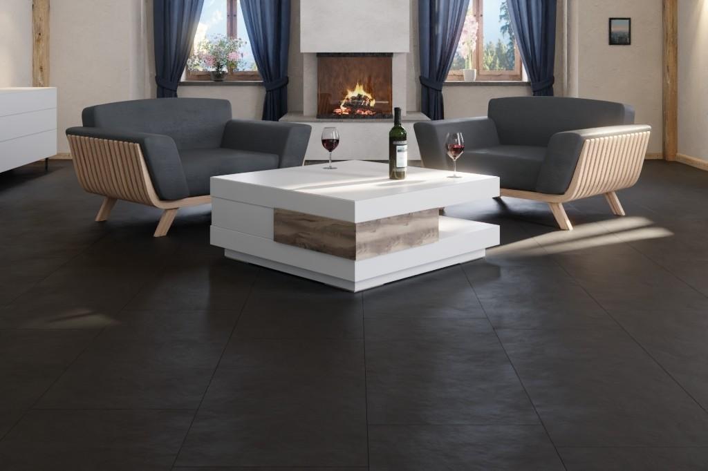 Fußboden Fliesenoptik ~ Stein samos anthrazit j stein fliesenoptik pro vinylboden stone