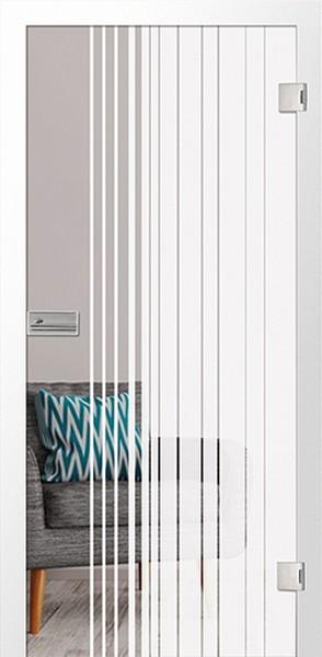 Terra Mattierung Glastür mit Motiv klar - Erkelenz
